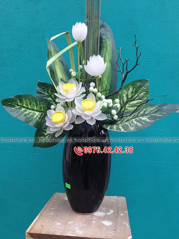Mẫu hoa pha lê sen trắng