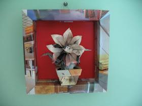 origami tablou 3d din foi revista publicitara