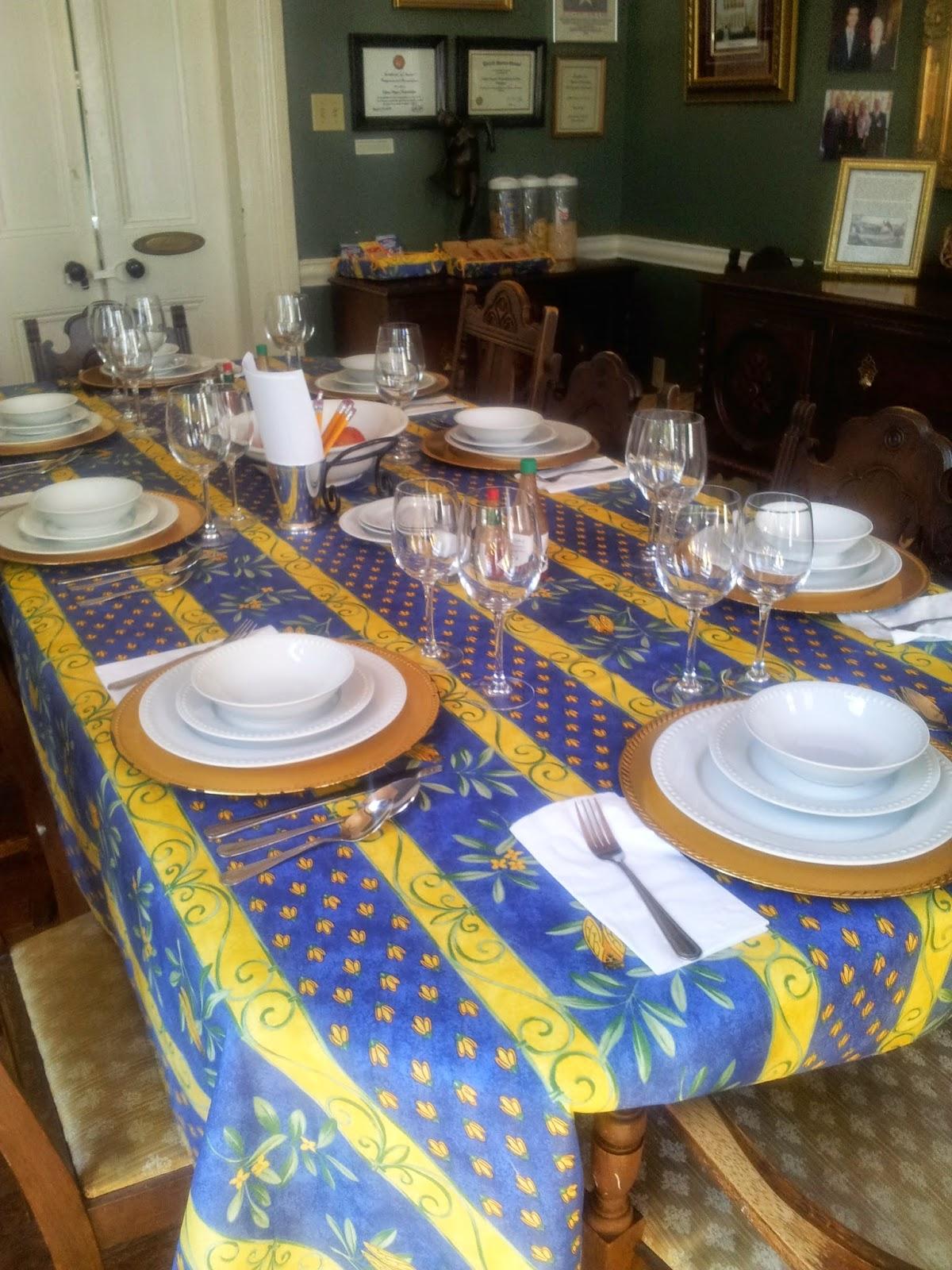 Table setting, Degas House, New Orleans