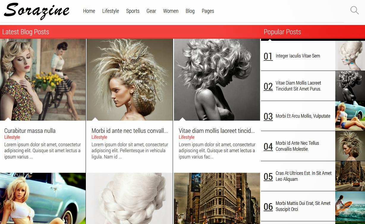 Sorazine Blogger Template