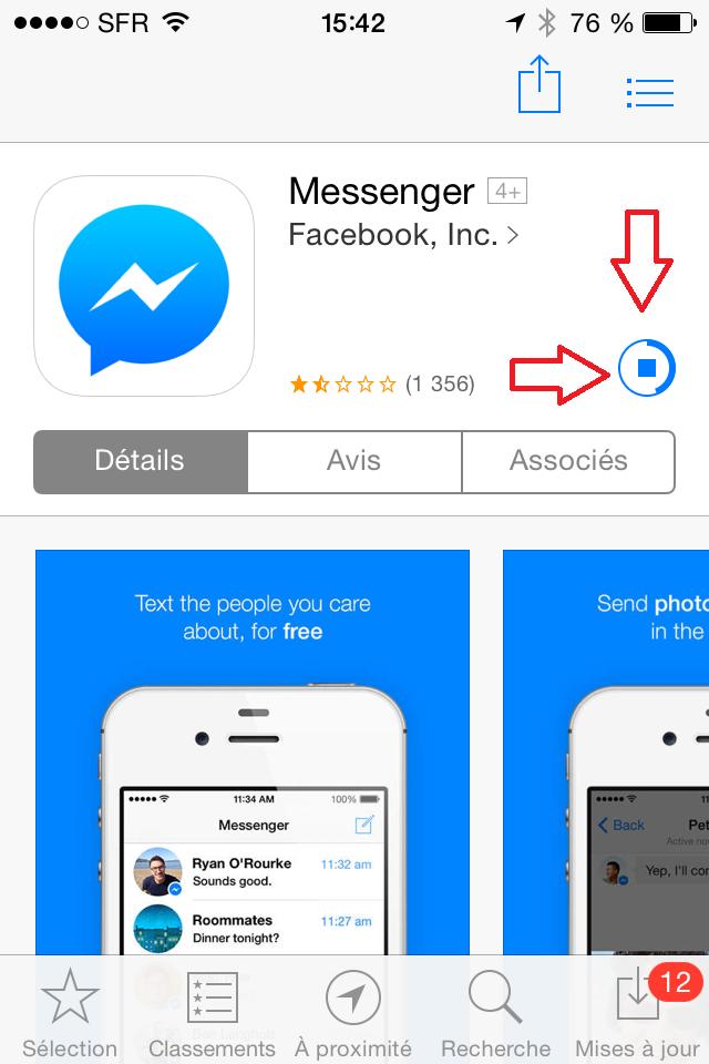 تخطي رسالة facebook messenger الاجبارية  للشات