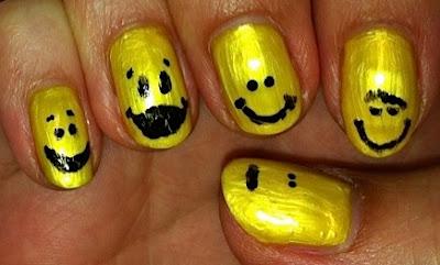 nail me, nail art, smile, emoticon, anna