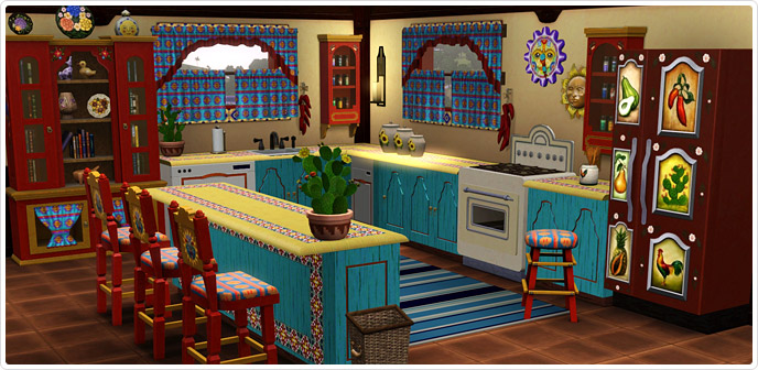 Set fiesta fabulosa estilo mexicano set de la store for Cocinas estilo mexicano