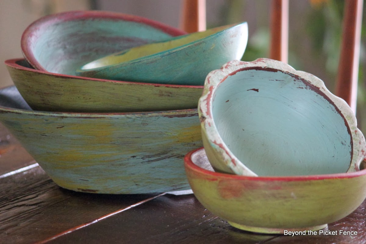 Pottery barn knockoff wood bowls http://bec4-beyondthepicketfence.blogspot.com/2014/01/bowl-me-over-with-pottery-barn-knock-off.html