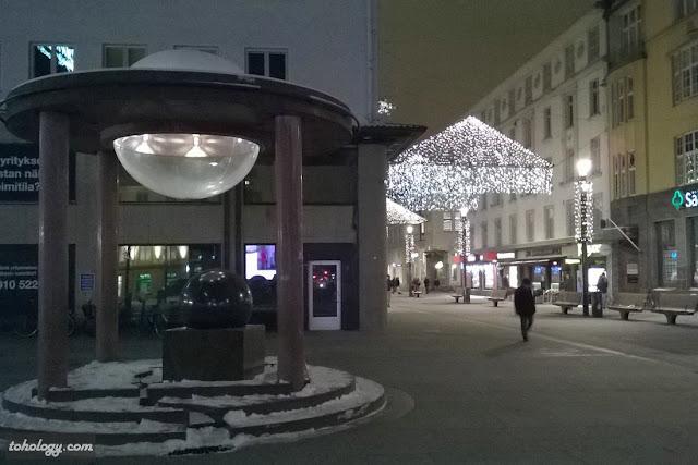 Downtown area in Oulu