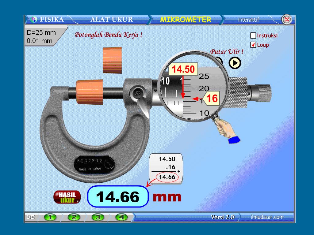 Cara Membaca Alat Ukur Mikrometer