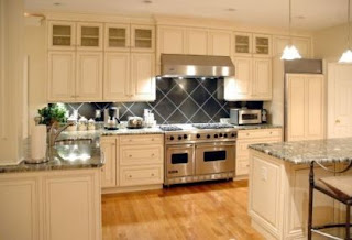 light brown modern kitchen cabinets