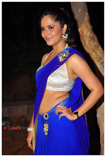 Anchor Anasuya  Pictures in Saree  0008
