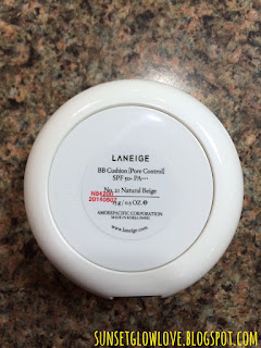 Laneige BB Cushion Pore Control bottom of pact