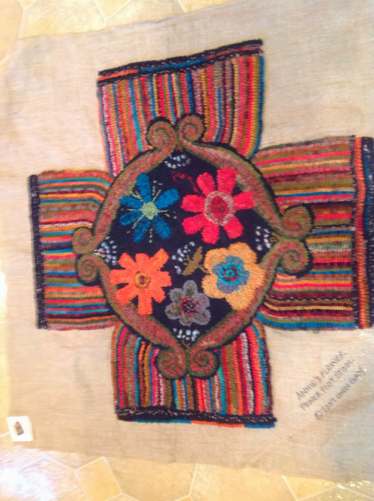 Hidden Hills Rug Hooking Group Project this year