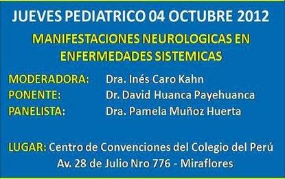 ENFERMEDADES SISTEMICAS CON MANIFESTACIONES NEUROLOGICAS EN PEDIATRIA