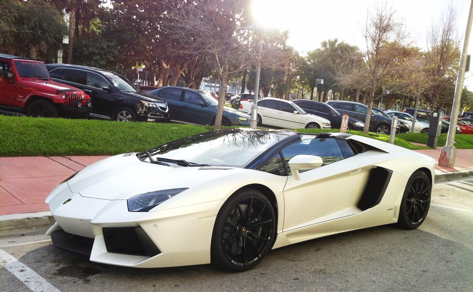 Lamborghini Aventador Roadster   Miami Beach