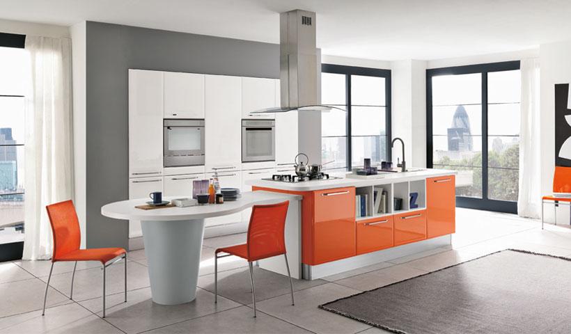 Cocinas que no dejan indiferente a nadie cocinas con estilo - Cocina blanca y naranja ...