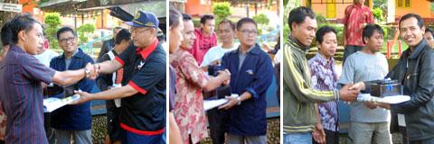 Karyawan Bank Mandiri-Jakarta berbagi di Kawasan Wisata Wadukdarma