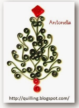 Lovely Scroll Quilled Christmas Tree from Antonella at www.quilling.blogspot.com  #Quilled #Quilling #Christmas