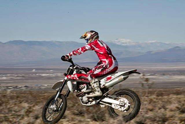 Husqvarna TE450 Adventures Bikes in Air