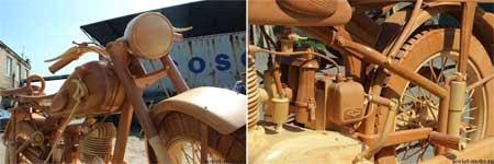 motor unik dari kayu