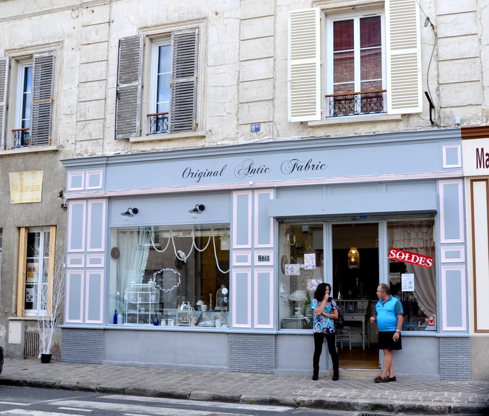 histoire des commerces de milly la foret n 8 bis rue saint jacques original antic fabric. Black Bedroom Furniture Sets. Home Design Ideas
