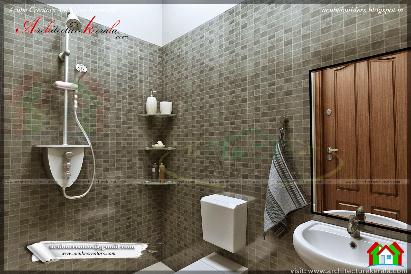 Bathroom interior design architecture kerala Bathroom tiles design in kerala