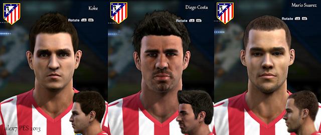 Atlético de Madrid Mini Facepack - PES 2013