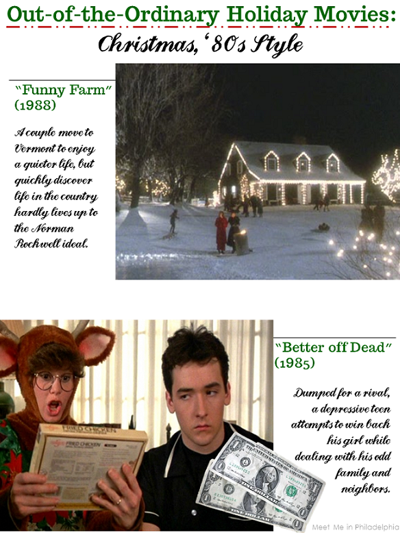 out of the ordinary holiday movies_80s comedies via Meet Me in Philadelphia