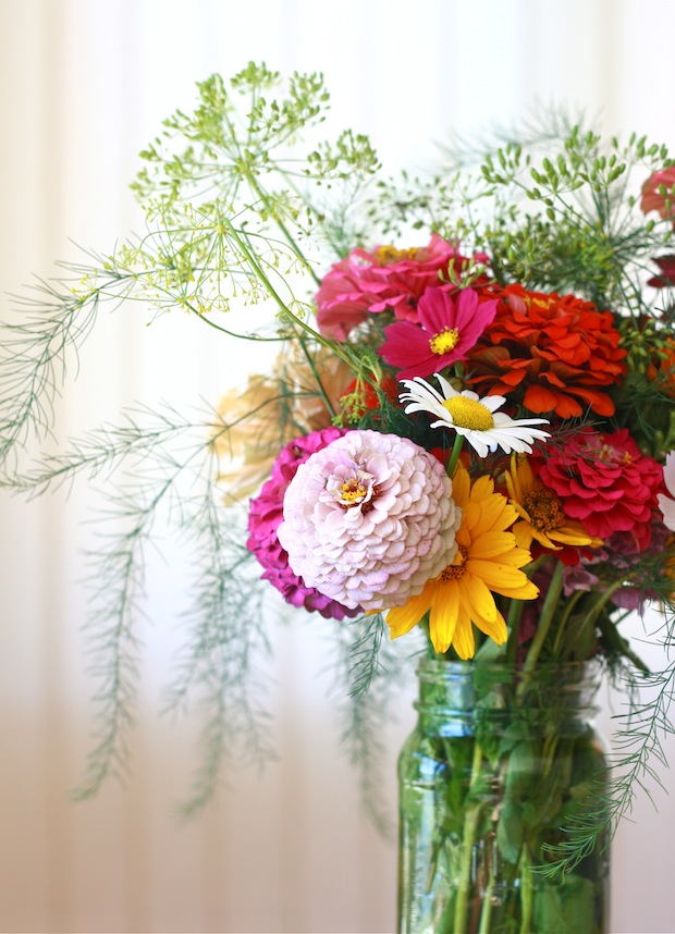 Flower Arrangement with Fresh Dill by SeasonWithSpice.com