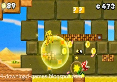 تحميل لعبة سوبر ماريو الجديدة New Super Mario Bros 2 لعبة خفيفة مجانا