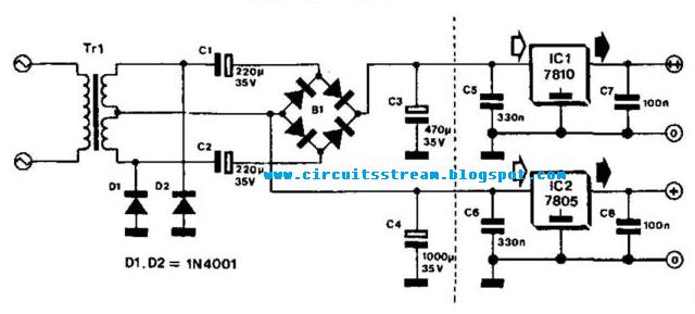 simple bridge rectifier circuit diagram