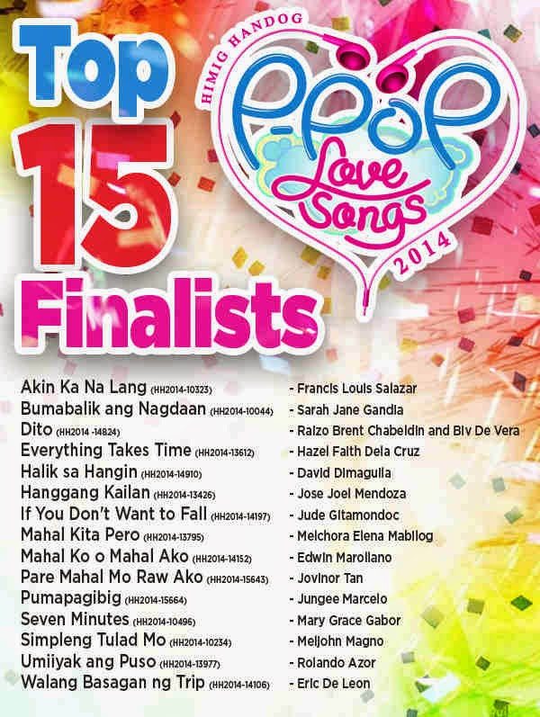 2014 Himig Handog Top 15 Finalist P-Pop Love Songs