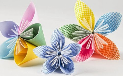 Colorful Origami Paper Flowers