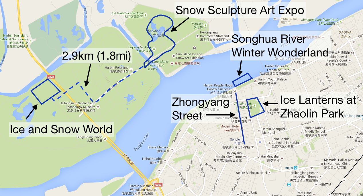 Everything brisa harbin ice and snow festival guide harbin map gumiabroncs Choice Image