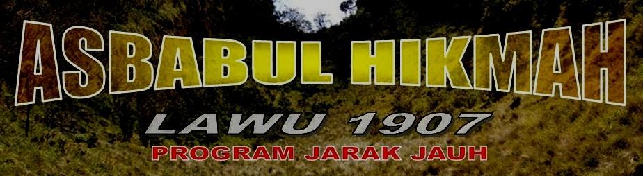 TAREKAT ASBABUL HIKMAH - LAWU 1907