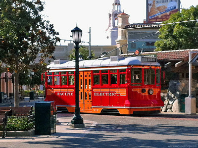 Red Car Trolley Disney California Adventure DCA Buena Vista