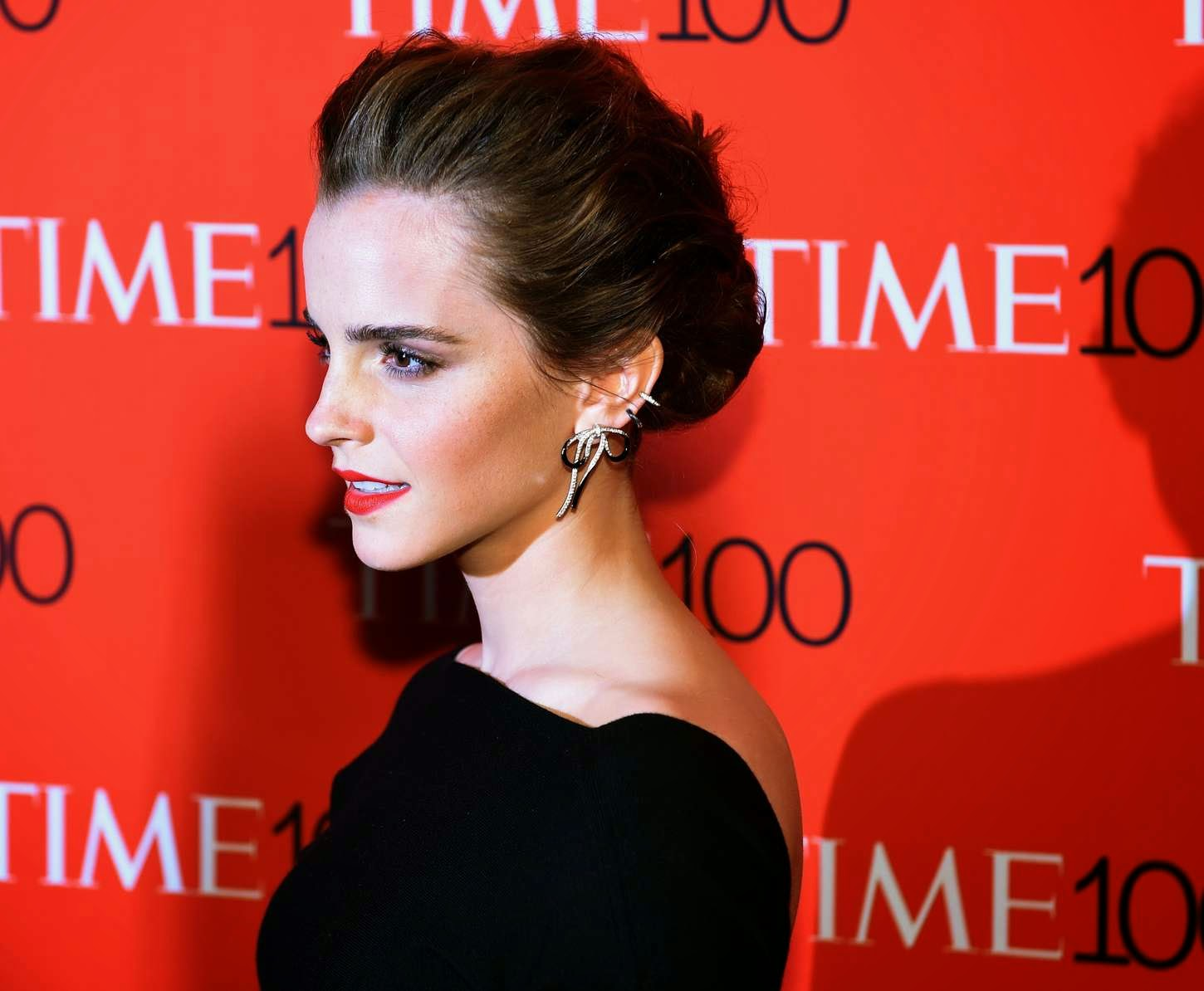 Emma Watson is edgy in Christian Dior at the 2015 Time 100 Most Influential People in the World Gala