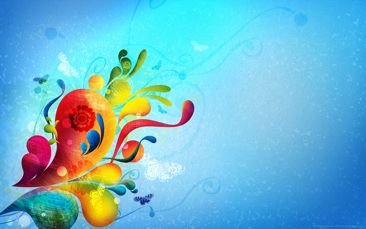 Abstract Color Flowers Hd Picture Abstract Graphic Wallpaper