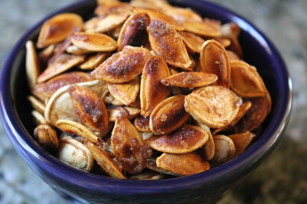 Faulkner's Ranch: Sweet and Salty Caramelized Pumpkin Seeds
