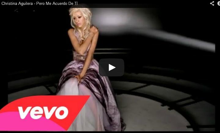 PERO ME ACUERDO DE TÍ - Christina Aguilera - letras.com
