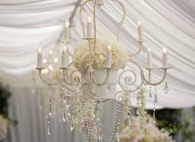 Modern fabric chandelier