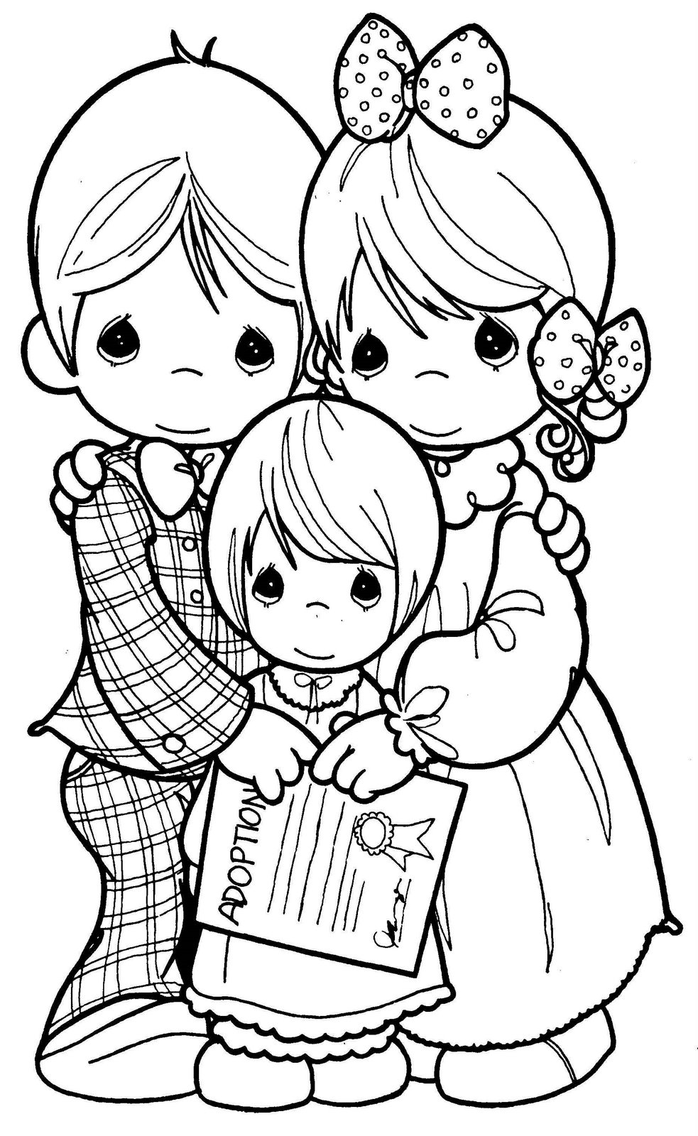 Family drawing precious moments coloring child coloring for Coloring pages of precious moments
