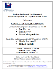 Candidate Forum October 23 for District 17 Congress