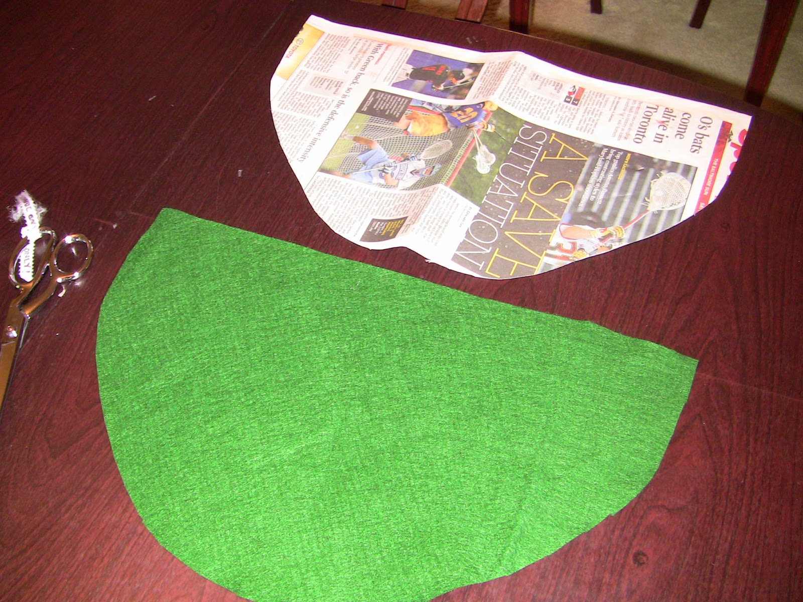 I First Made A Template From Newspaper And Cut Felt To Match The Straight Side Of Semi Circle Is 18 Inches Long Highest Point In Arch 11