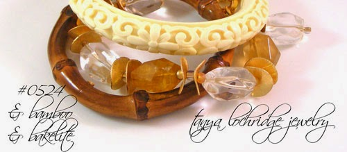 Yellow Calcite & Crystal Quartz Potato Chip Bracelet