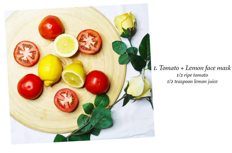 Tomato and Lemon mask- Skincare tips
