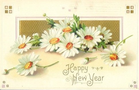 late 19th century new years card