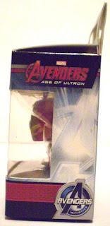 Left side of Iron Man Pocket Pop Keychain in box