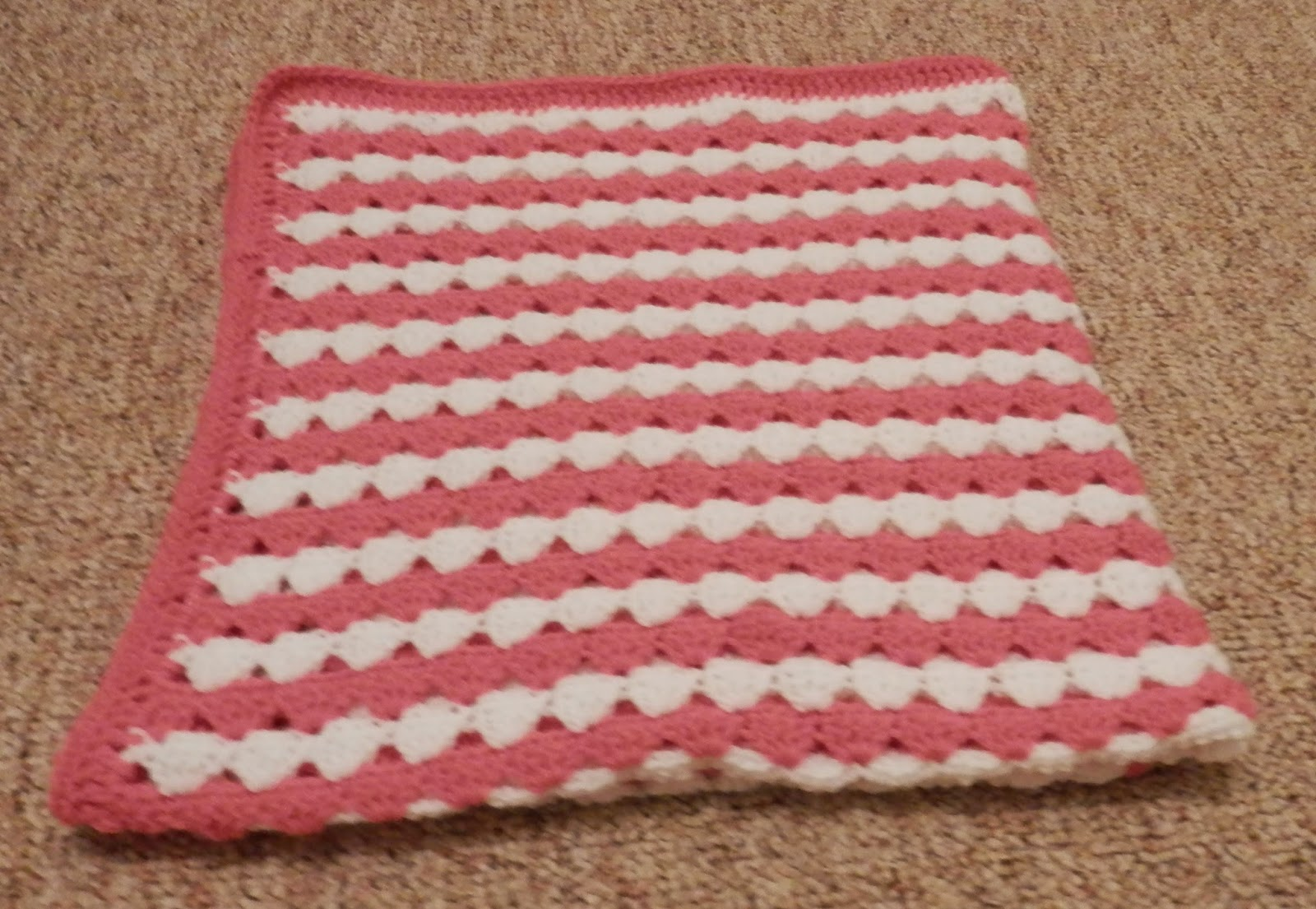 Karens Crocheted Garden of Colors: Bubble Gum Pink and White Baby ...