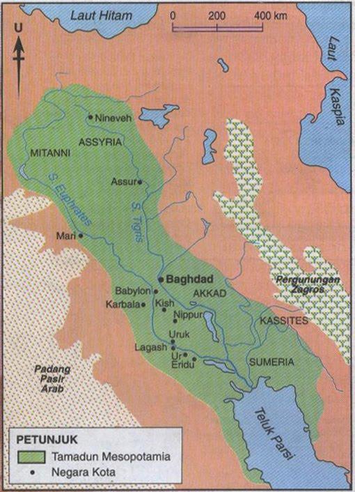 tamadun mesopotamia Tamadun mesopotamia ini terbahagi kepada dua bahagian iaitu bahagian utara dan selatan baghdad setiap negara kota ini mempunyai ciri ciri fizikal yang tersendiri iaitu.