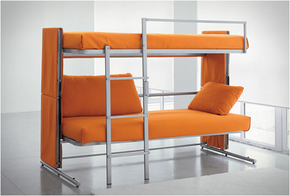 Click Clack Sofa Bed Chair Modern Leather