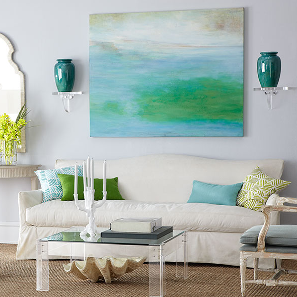 DIY Knock-off Abstract Painting. Tips for painting your own. www.entirelyeventfulday.com #knockoff #painting