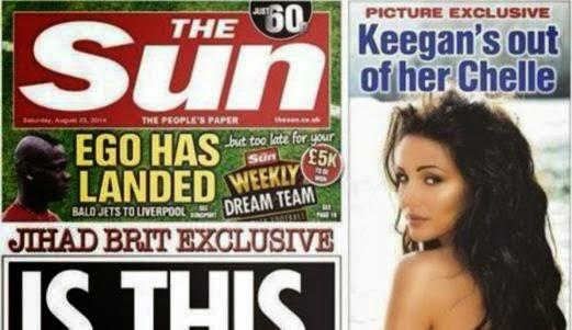 The Sun henti siar model separuh bogel